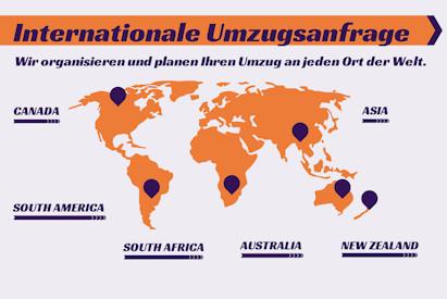 weltweit umziehen